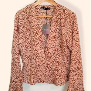 MISSGUIDED Leopard print peplum blouse